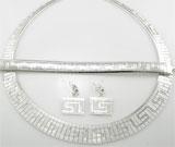 Set argint model Cleopatra: colier, bratara si cercei