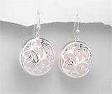 Cercei argint cu cuart roz