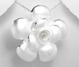 Pandantiv din argint cu aspect mat model trandafir