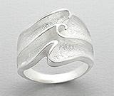 Inel argint model valuri