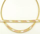 Set: colier si bratara din argint placat cu aur galben si aur roz
