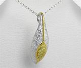 Pandantiv din argint placat cu aur cu cubic zirconia