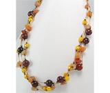 Ce semnifica culoarea bijuteriilor:Colier scurt cu agate si perle vopsite