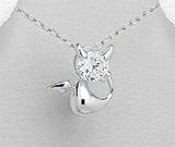 Bijuterii din argint in trend: Pandantiv Dracusor Poznas din argint rodiat cu cubic zirconia