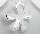 Bijuterii din argint in trend: Pandantiv mare din argint model floare