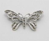 Accesorii argint: Brosa fluture cu marcasite din argint