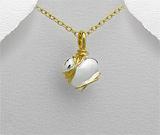 Cadouri de Dragobete: Pandantiv inimioara mica din argint placat cu aur