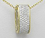 Pandantiv din argint placat cu aur cu imitatii de diamante