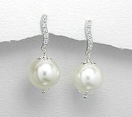 Cercei din argint cu perle artificiale