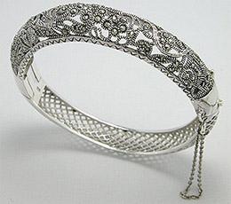 Bratara argint cu marcasite