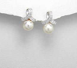 Cercei din argint cu perla