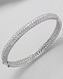 Bratara fixa din argint cu zirconia