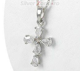 Cruciulita din argint cu pietre