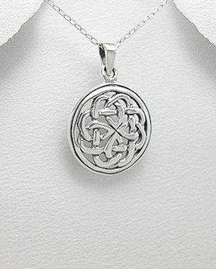 Bijuterii Celtice Argint Pandantiv Noduri 17 1 I61346 Silverzonero