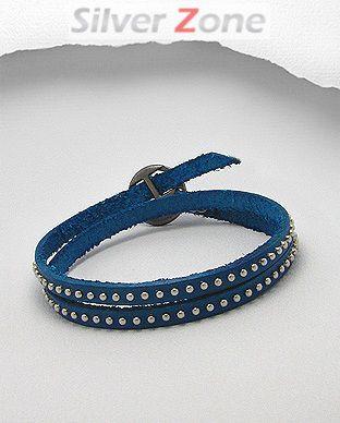 Bratara din piele albastra 33-1-i33568B