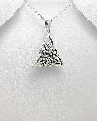 Pandantiv Triunghi Celtic Triquetra Din Argint 17 1 I61347