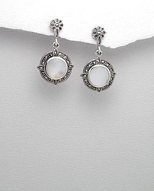 bijuterii sidef alb