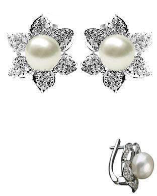 cercei perla argint