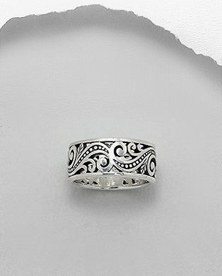 Inel verigheta din argint in filigran