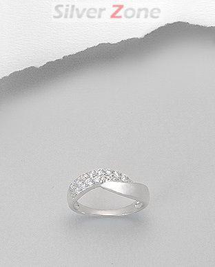Inel din argint 925 cu aspect de aur alb