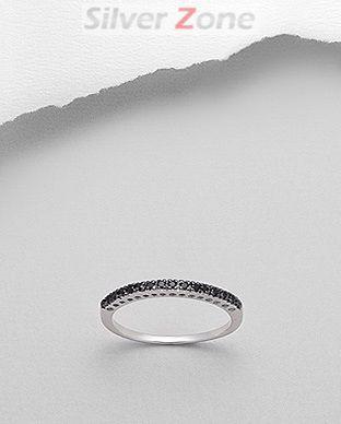 Inel din argint 925 cu zirconia negru