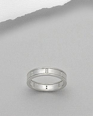 Inel Verigheta Din Argint Cu Pietre 12 1 I4794 Silverzonero