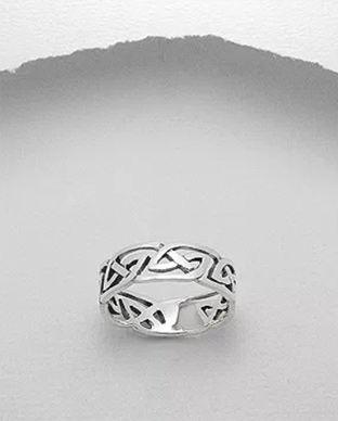 Inel Verigheta Din Argint Model Celtic Decupat 12 1 I59381