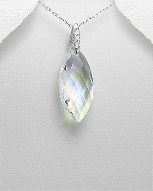 Pandantiv din argint si cristal