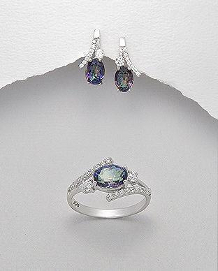 bijuterii argint cu topaz