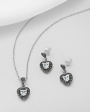bijuterii din argint inima