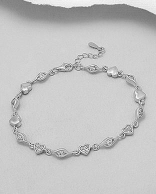 bijuterii inimioare din argint