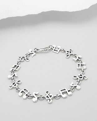 bijuterii argint: bratara note muzicale width=