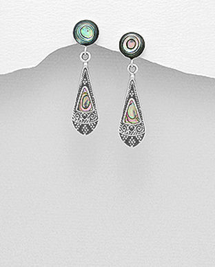 bijuterii din argint cu sidef abalone verde