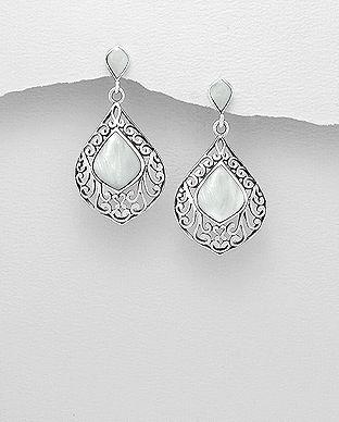 cercei filigran argint: bijuterii filigran