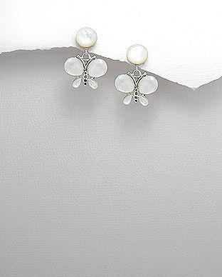 bijuterii din argint fluturas sidef