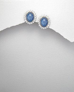 cercei pietre albastre semipretioase