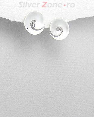 cercei Valuri Val din argint
