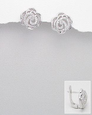 bijuterii trandafir argint