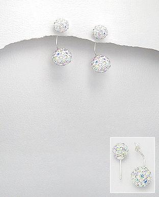 cercei cristale argint