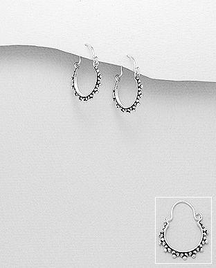 cercei rotunzi din argint
