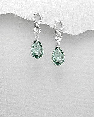cercei eleganti bijuterii din argint