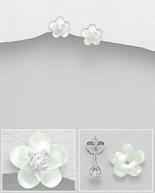 bijuterii floare argint