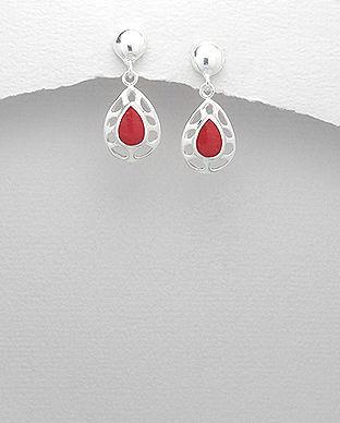 bijuterii din argint rosii rosu