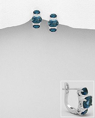 pietre semipretioase topaz albastru