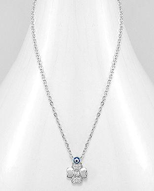 bijuterii argint ochi protector albastru