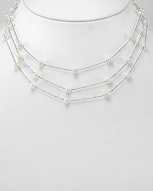 colier din argint cu perle