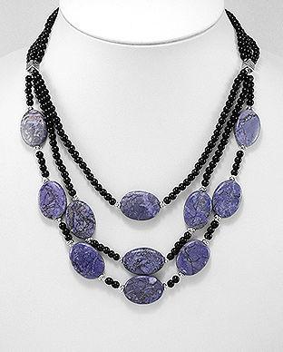 colier jasp violet