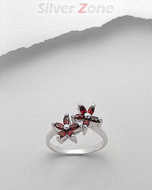bijuterii granat rosu