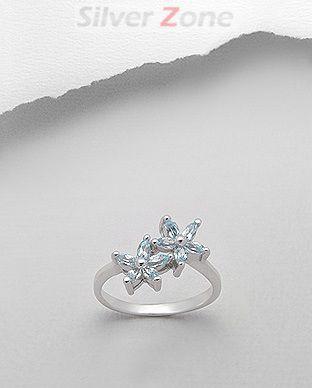 bijuterii albastre argint
