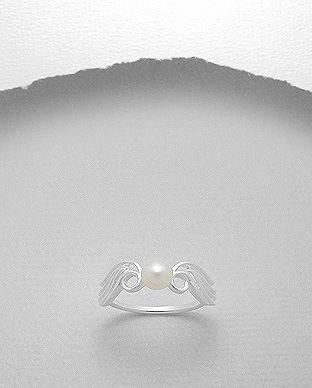inel cu perle naturale